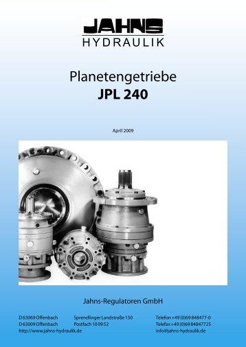 Planetengetriebe JPL 240 - Jahns-Regulatoren GmbH