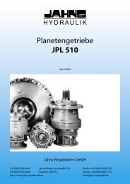 Planetengetriebe JPL 510 - Jahns-Regulatoren GmbH