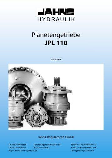 Planetengetriebe JPL 110 - Jahns-Regulatoren GmbH