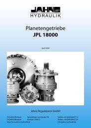 Planetengetriebe JPL 18000 - Jahns-Regulatoren GmbH