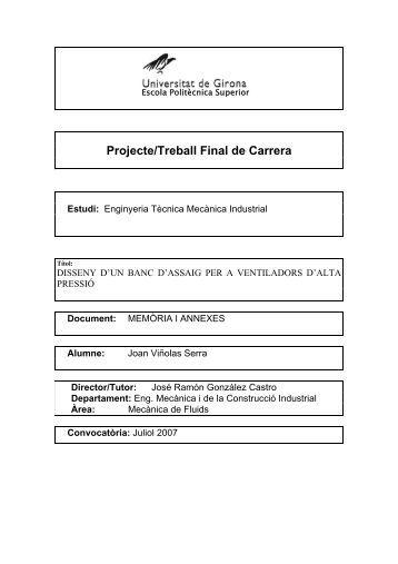Projecte/Treball Final de Carrera