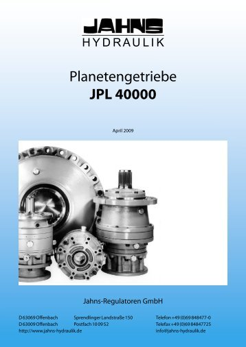 Planetengetriebe JPL 40000 - Jahns-Regulatoren GmbH
