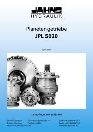 Planetengetriebe JPL 5020 - Jahns-Regulatoren
