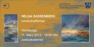 Einladung zur Vernissage - Justizakademie Nordrhein-Westfalen