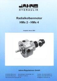 Radialkolbenmotor HMs2, HMs4 - Jahns-Regulatoren GmbH