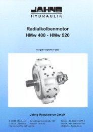 Radialkolbenmotor HMw 400 - HMw 520 - Jahns-Regulatoren