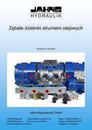 Zębate dzielniki strumieni olejowych - Jahns-Regulatoren