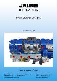 Flow divider designs - Jahns-Regulatoren