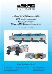 Zahnradölstromteiler - Jahns-Regulatoren GmbH