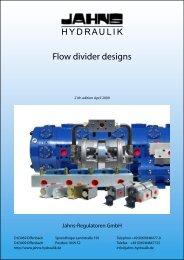 Flow divider designs - Jahns-Regulatoren GmbH