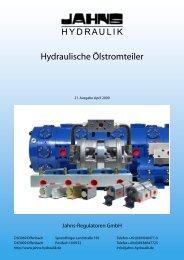 Hydraulische Ölstromteiler - Jahns-Regulatoren