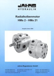 Radialkolbenmotor HMs2 bis HMs21 - Jahns-Regulatoren
