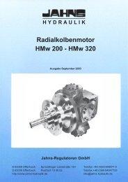 Radialkolbenmotor HMw 200 - HMw 320 - Jahns-Regulatoren GmbH