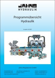 Programmübersicht Hydraulik - Jahns-Regulatoren GmbH