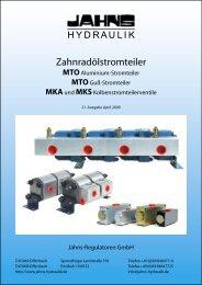 Zahnradölstromteiler - Jahns-Regulatoren
