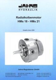Radialkolbenmotor HMs18, HMs21 - Jahns-Regulatoren