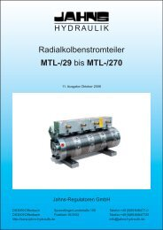 Radialkolbenstromteiler MTL-/29 bis MTL-/270 - Jahns-Regulatoren ...