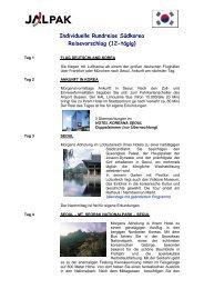 Individuelle Rundreise Südkorea Reisevorschlag (12-tägig)