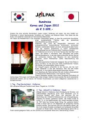 Rundreise Korea und Japan 2012 ab € 3.699,-