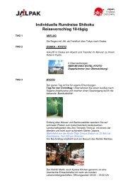 10-tägige Shikoku Rundreise mit Flug ab € 2.299