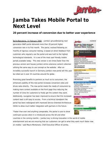 Diese Pressemitteilung als PDF herunterladen - Jamba