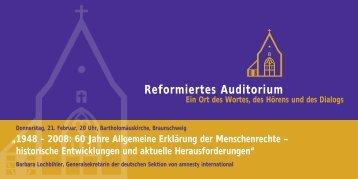 Reformiertes Auditorium