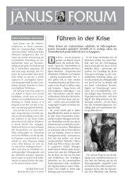 Forum 1/2003 - Janus GmbH & Co. KG