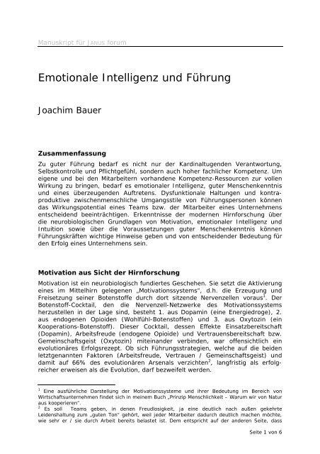 Emotionale Intelligenz und Führung