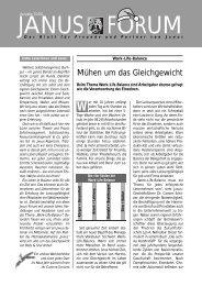 Forum 3/2001 - Janus GmbH & Co. KG