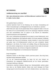 NETZWERKE Jubiläumsvortrag von Josef Beil