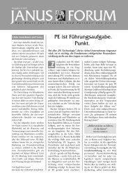 Forum 2/2003 - Janus GmbH & Co. KG
