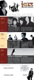 Januar bis Juli 2009 - Jazzverein Bad Saulgau