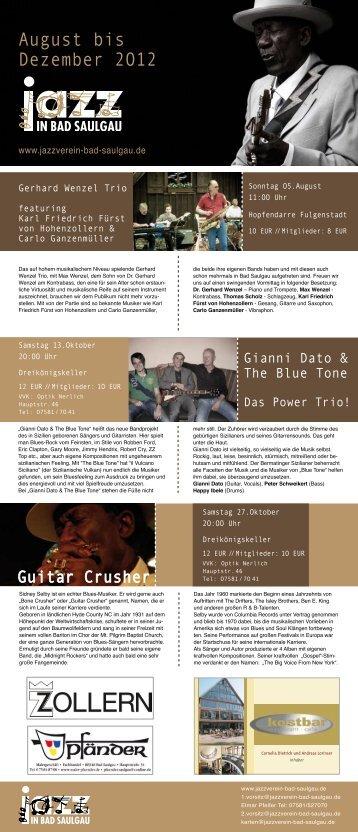 Halbjahres-Programm 2. HJ 2012 als PDF - Jazzverein Bad Saulgau