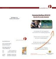 Sommerkolleg 2012/13 - bei der Jugendberufshilfe Ortenau eV