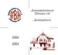 JBH Jahresbericht - bei der Jugendberufshilfe Ortenau eV
