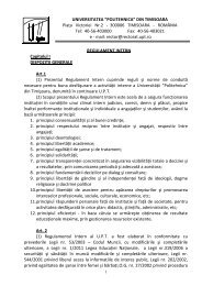 Regulament intern (Anexa nr.22 la Carta UPT) - Universitatea ...