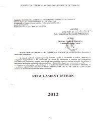 Regulament intern 2013 - Complexul Energetic Rovinari