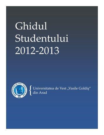 Ghidul Studentului 2012-2013 - ASI UVVG