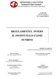 REGULAMENT INTERN - Institutul Clinic Fundeni