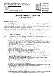 regulament intern 2011-2012