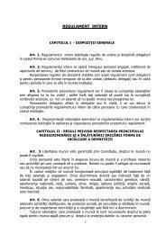 REGULAMENT INTERN - Primaria Stefanestii de Jos