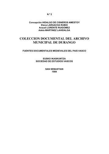 Colección Documental del Archivo Municipal de Durango. IN ...