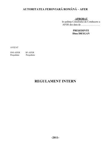 regulament intern -2011