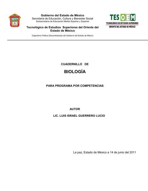 BIOLOGÍA - Tecnológico de Estudios Superiores del Oriente del ...