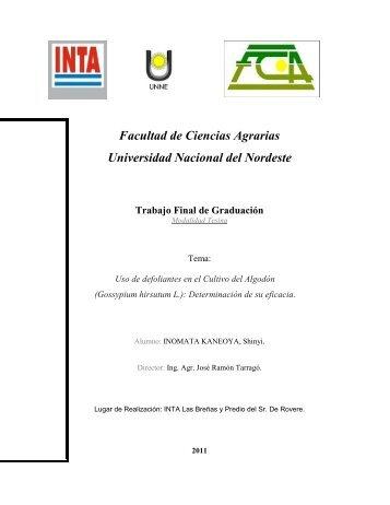 Tesis Inomata Uso de defoliantes en el Cultivo del Algodón.pdf - INTA