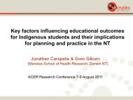 Key factors influencing educational outcomes for Indigenous ... - ACER