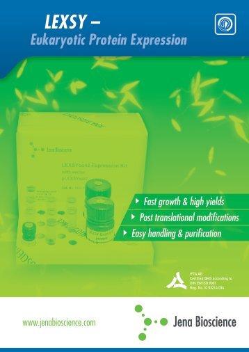 LEXSY Brochure (PDF, 5.0 MB) - Jena Bioscience