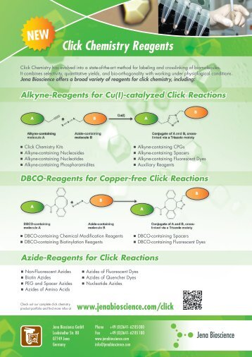"Flyer ""Click Chemistry Reagents"" - Jena Bioscience"