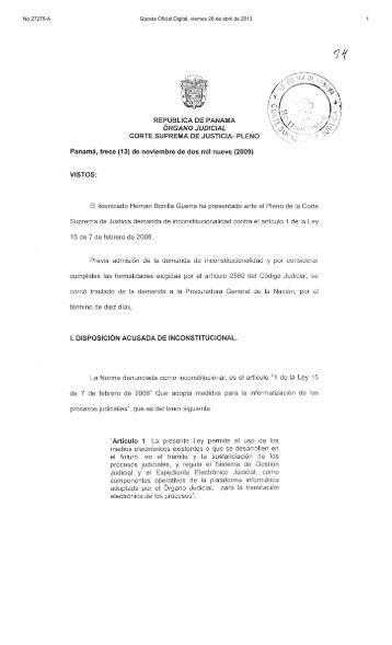No 27275-A Gaceta Oficial Digital, viernes 26 de abril de 2013 1