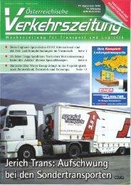 Schwertransport Reportage in der österr ... - Friedrich Jerich